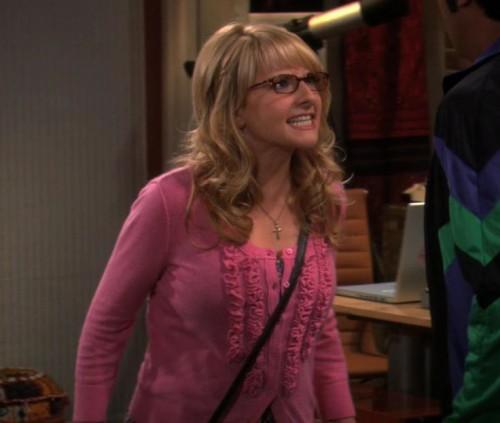 Bernadettes pink frill cardigan
