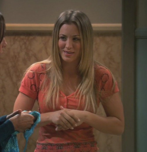 Penny's orange shirt on The Big Bang Theory