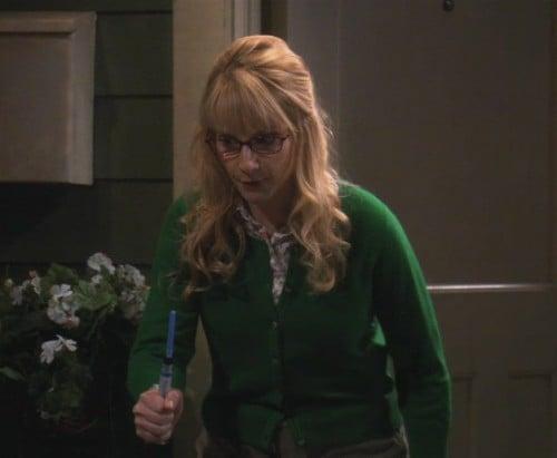Bernadettes green cardigan