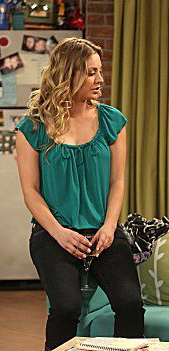 Penny's green blouse on The Big Bang Theory
