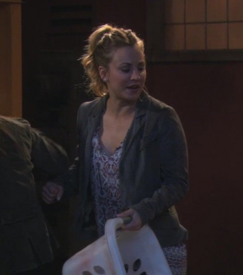 Penny's grey jacket on The Big Bang Theory
