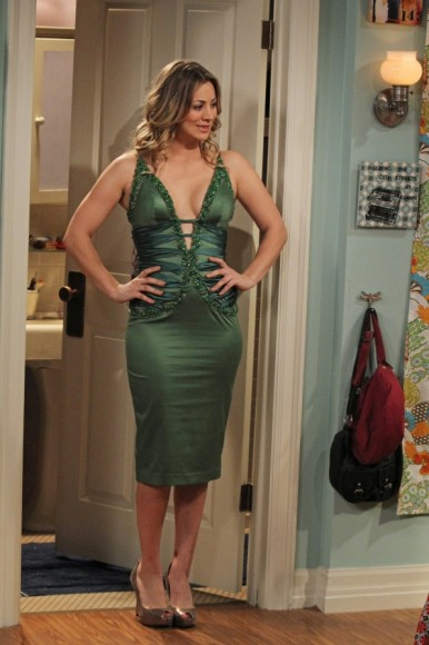 f3f969e80a39 WornOnTV  Penny s green low cut dress on The Big Bang Theory