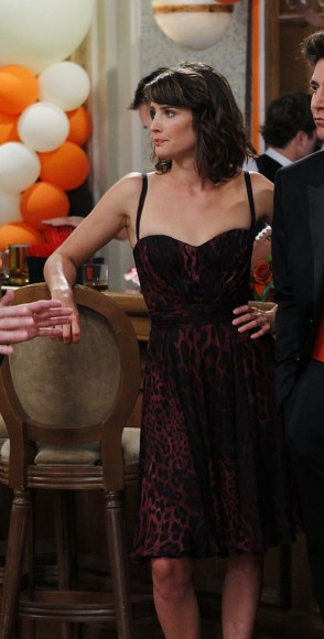 Robin's red print dress on HIMYM
