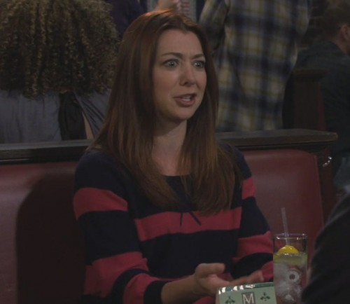 Lily's red and blue striped sweater on How I met your mother