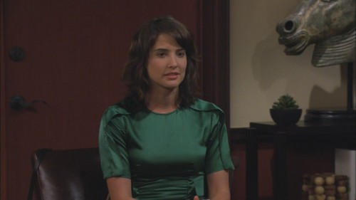 Robin's green satin top on How I met your mother