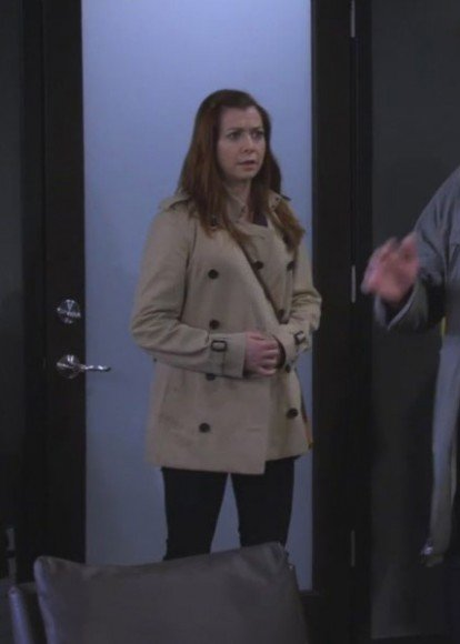 Lily's beige double breasted jacket