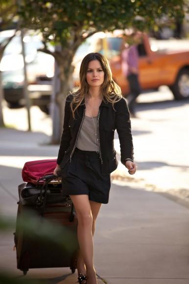 Zoe's black shorts and blazer on Hart of Dixie