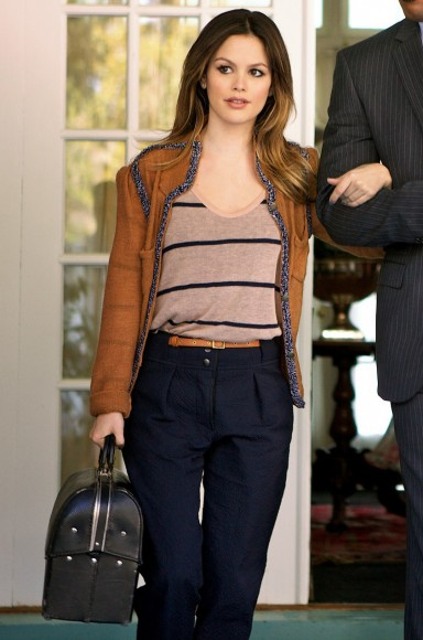 Zoe's brown blazer