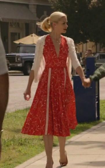 Lemons red dress