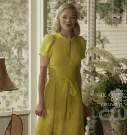 Lemons bright yellow dress with tie