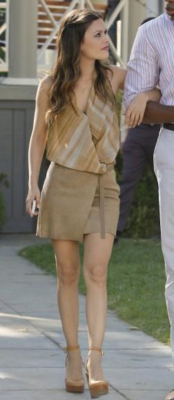 Zoe's wrap skirt