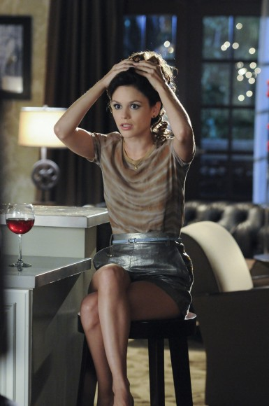 Zoe's silver shorts on Hart of Dixie