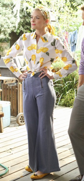 Lemon's lemon print top and jeans