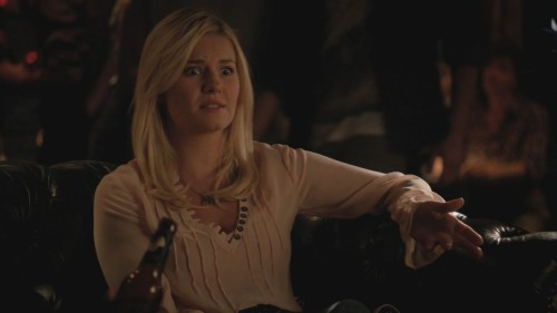 Alex's light pink blouse on Happy Endings
