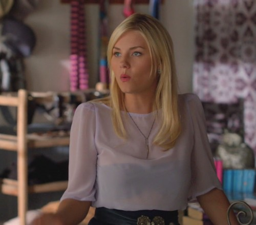 Alex's lavender blouse on Happy Endings