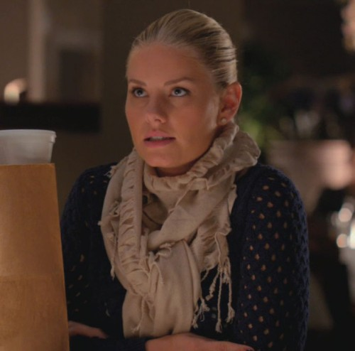 Alex's cream scarf on Happy Endings