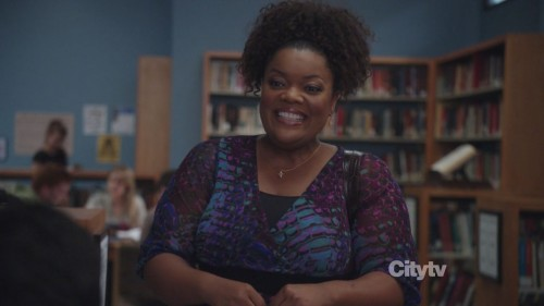 Shirley's purple and blue blouse from Community