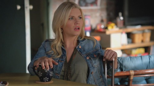 Alex's denim jacket on Happy Endings