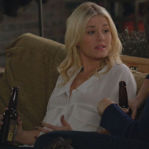 Alex's white blouse on Happy Endings