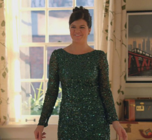 Pennys green glitter dress