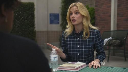 Britta's blue plaid shirt  on Community