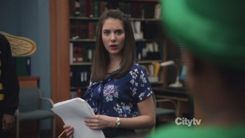 Annie's blue flower blouse from Community