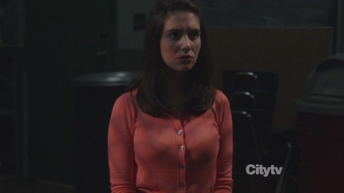 Annie's orange cardigan on Community