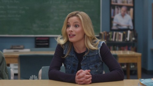 Britta's denim vest on Community
