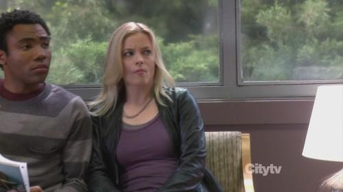 Britta's black leather jacket on Community