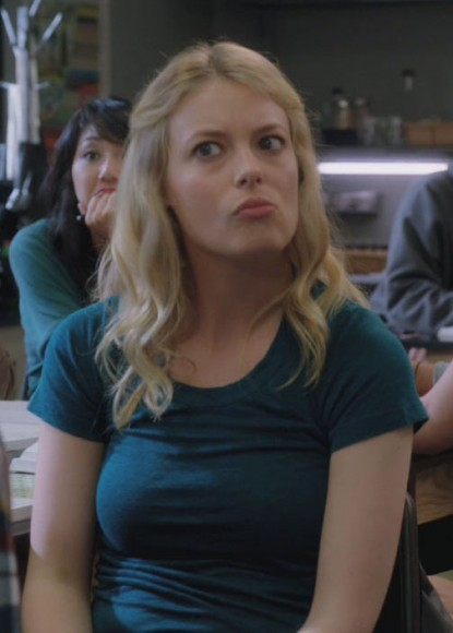 Brittas blue tshirt