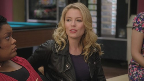 Britta's black leather jacket from Community
