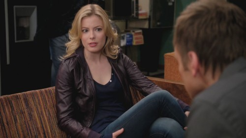 Britta's purple leather jacket