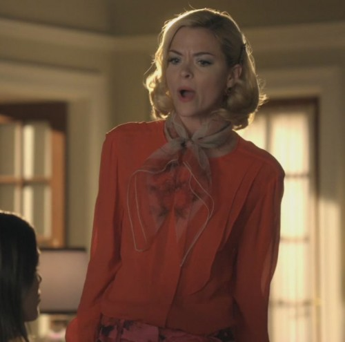 Lemon's orange blouse with scarf on Hart of Dixie