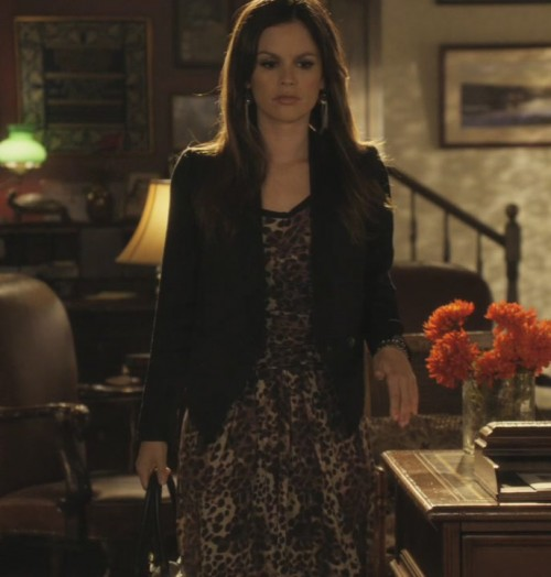 Zoe's leopard print dress and blazer  on Hart of Dixie