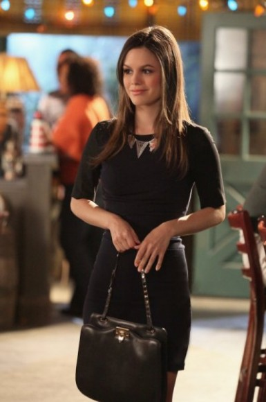 Zoe's tight black dress and bag on Hart of Dixie