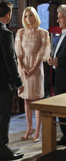 Lemon's puffy sleeve dress on Hart of Dixie