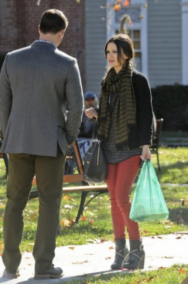 Zoes red leggings and booties on Hart of Dixie