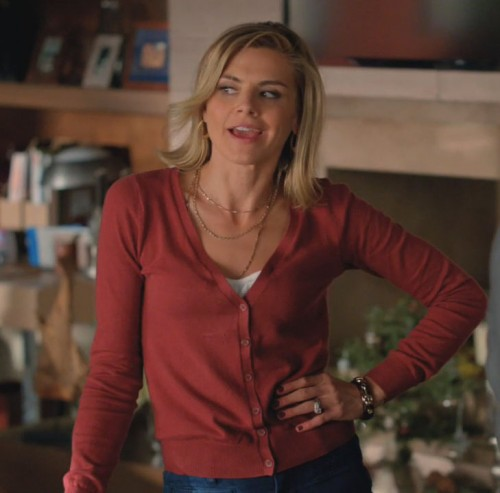 Jane's orange cardigan on Happy Endings