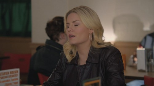 Alex's leather jacket on Happy Endings
