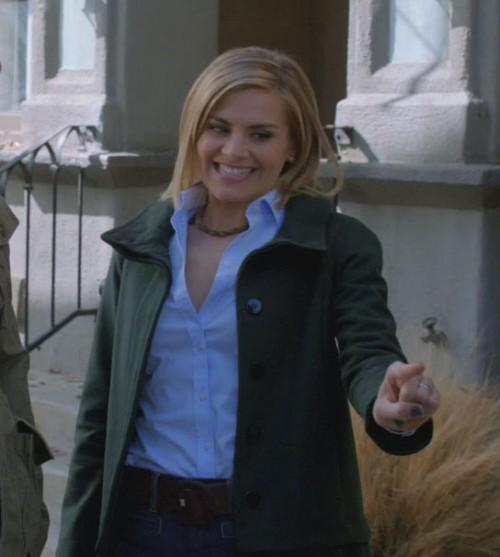 Janes green coat