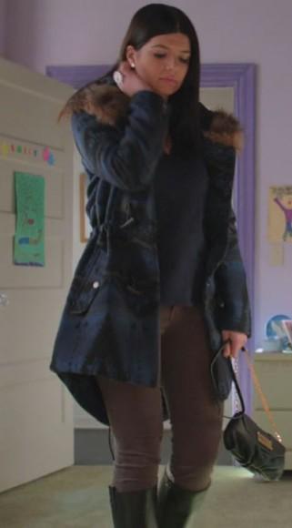 Pennys blue fur collar coat