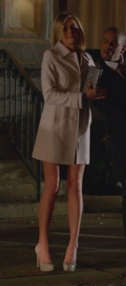 Jane's cream coat on Happy Endings