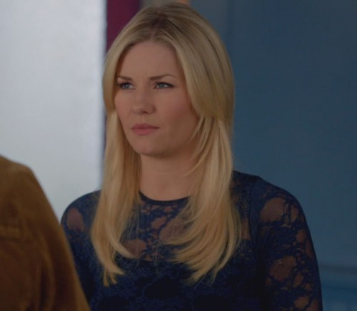 Alex's blue lace top on Happy Endings