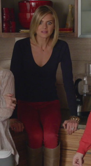 Jane's red jeans on Happy Endings