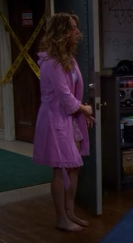 Penny's pink robe with ruffles from The Big Bang Theory