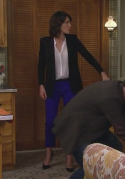 Robin's electric blue pants on How I Met Your Mother