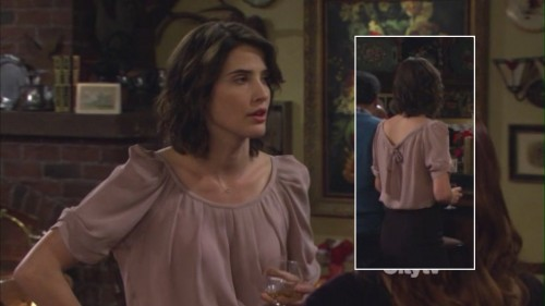 Robins pussybow-back blouse on HIMYM