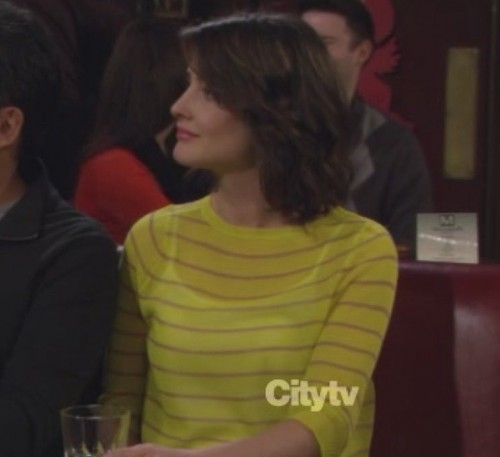 Robin's yellow striped top on How I Met Your Mother
