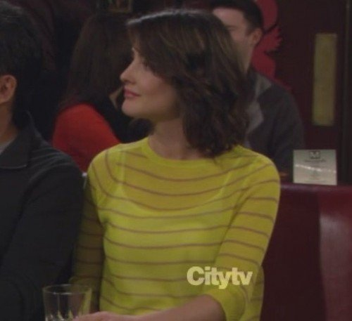 Robins yellow striped top on HIMYM