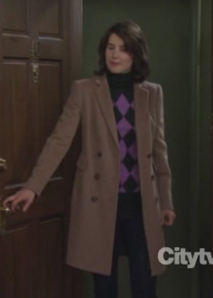 Robins argyle sweater and coat on HIMYM